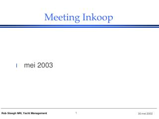 Meeting Inkoop