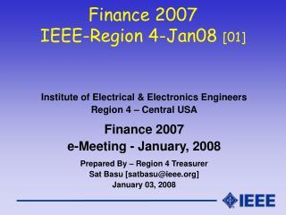 Finance 2007 IEEE-Region 4-Jan08  [01]