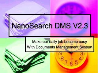 NanoSearch DMS V2.3