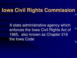 Iowa Civil Rights Commission