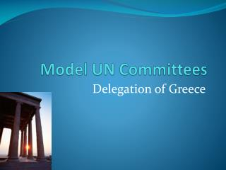 Model UN Committees