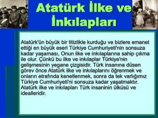 Atatürk İlke ve İnkılapları