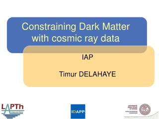 Constraining Dark Matter with cosmic ray data