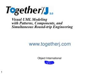 Visual UML Modeling with Patterns, Components, and Simultaneous Round-trip Engineering