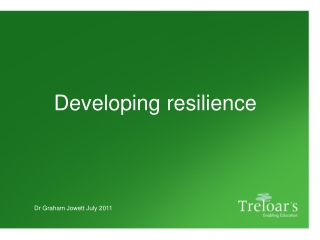 Developing Resiliency