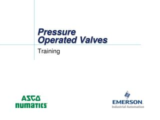 Pressure Operated Valves