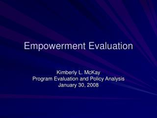 Empowerment Evaluation