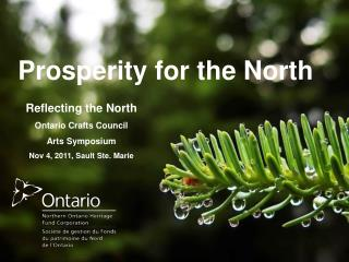 Prosperity for the North