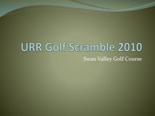URR Golf Scramble 2010