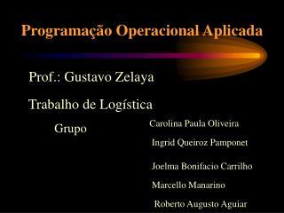 Programa��o Operacional Aplicada
