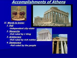 Accomplishments of Athens