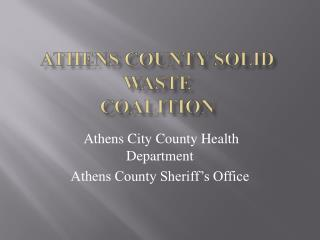 Athens County Solid Waste Coalition