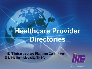 Healthcare Provider Directories