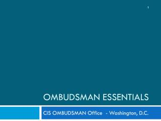 Ombudsman Essentials