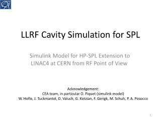 LLRF  Cavity Simulation for SPL