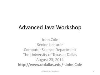 Advanced Java Workshop