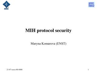 MIH protocol security