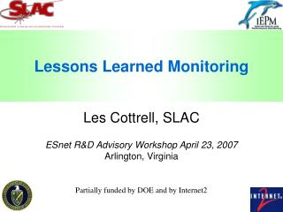 Lessons Learned Monitoring