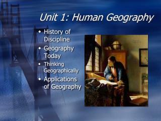 Unit 1: Human Geography