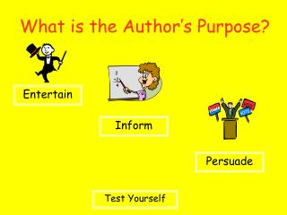 What is the Author's Purpose?