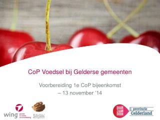CoP  Voedsel bij Gelderse gemeenten