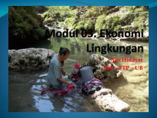 Modul  03.  Ekonomi Lingkungan