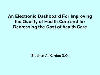 Stimulus For Dashboard Development