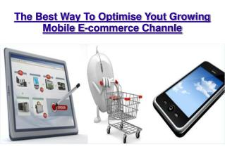 The Best Way To Optimise Your Growing mobile E-commerce