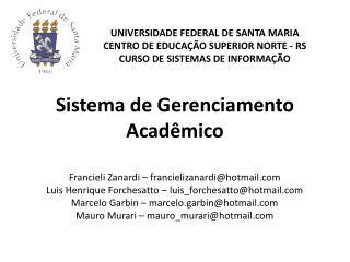 Sistema de Gerenciamento Acadêmico