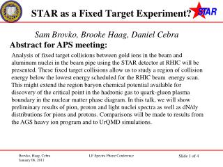 STAR as a Fixed Target Experiment?