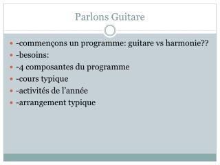 Parlons Guitare