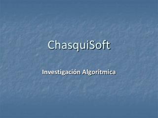ChasquiSoft