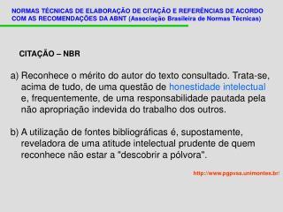 CITAÇÃO – NBR