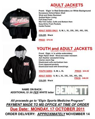 ADULT JACKETS