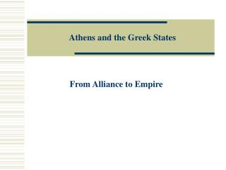 Athens and the Greek States