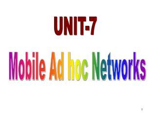 UNIT-7