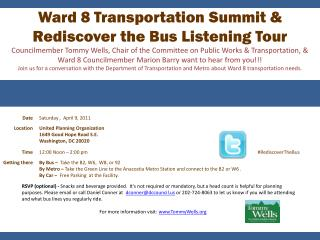 Ward 8 Transportation Summit & Rediscover the Bus Listening Tour