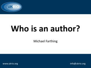 Who is an author?