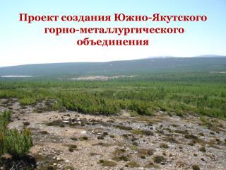 Проект создания Южно-Якутского  горно-металлургического объединения