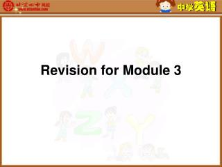 Revision for Module 3