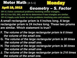 Motor Math  (4-5-1)
