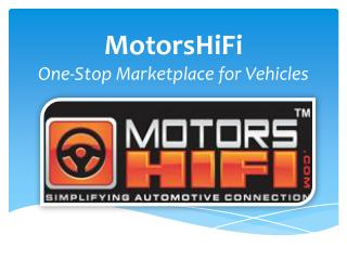 MotorsHiFi - Best Deals on Vehicles