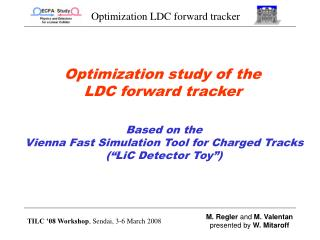 Optimization study of the  LDC forward tracker