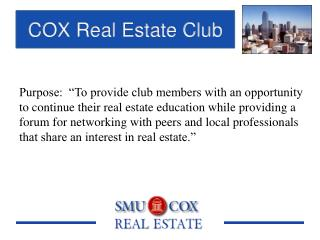 COX Real Estate Club