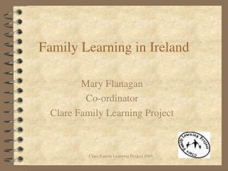 Family Learning in Ireland