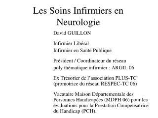 Les Soins Infirmiers en Neurologie