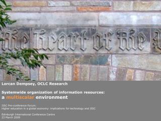 Lorcan  Dempsey, OCLC Research