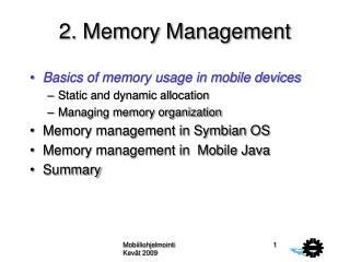 2. Memory Management