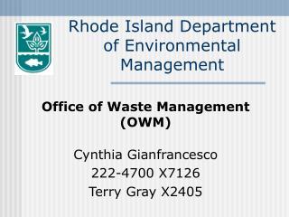 Rhode Island Department of Environmental Management
