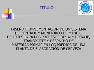 TITULO: